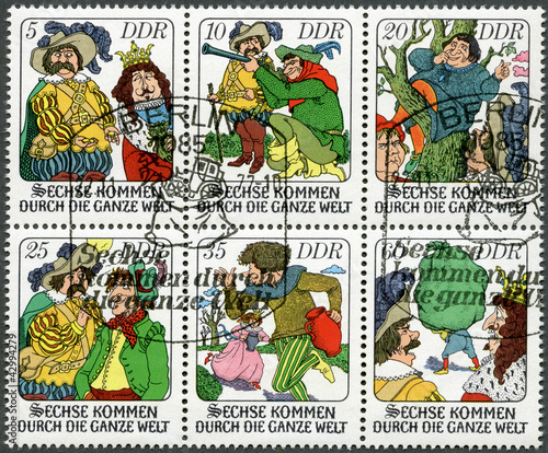 "GERMANY-1977: scenes from fairytale: ""Six Men Around the World"""