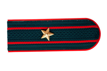shoulder strap of the Russian police officer