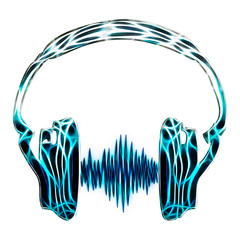 headphone audio wave