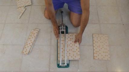 tiling tool cutting tiles