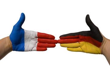 Deutschland und Frankreich geben sich die Hand