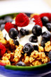 Breakfast cereal with yoghurt and berries