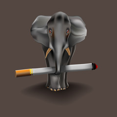 heavy habit, even an elephant.
