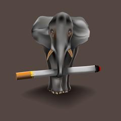 heavy habit, even an elephant.
