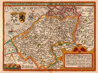 Flanders old map