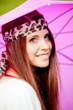 ragazza con ombrello