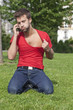 hot man bored on the phone
