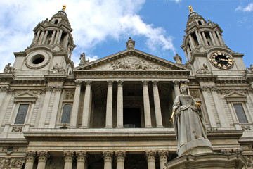 The Great West Door of St Paul's Cathedral in London