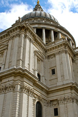 The dome of St Paul's Cathedral in London