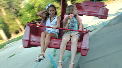 Children in the Amusement Park