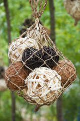 balls woven of twigs