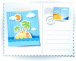 Tropical sea, custom postcard
