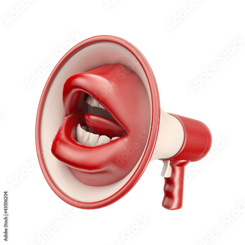 Mouth shaped loud speaker