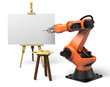 Industrial robot painting
