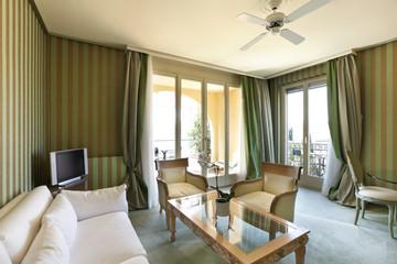 interior luxury apartment, comfortable suite , livingroom