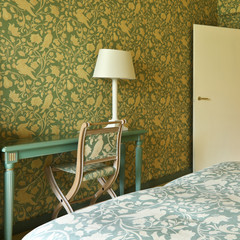 interior luxury apartment, comfortable suite, detail bedroom