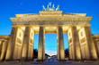 The Brandenburger Tor at sunset