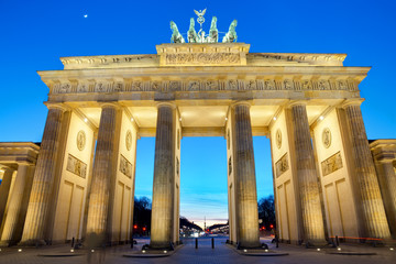 The Brandenburger Tor at sunset