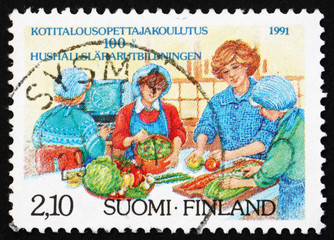 Postage stamp Finland 1991 Home Economics Education