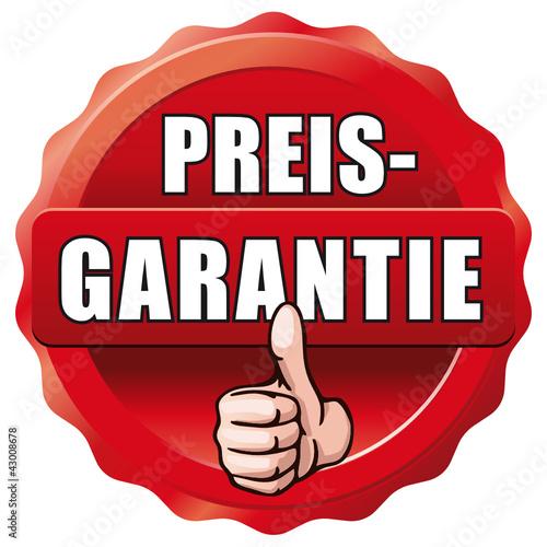 roter Button Preisgarantie