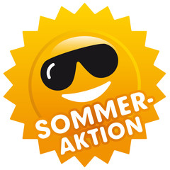 Button Sonne Sommeraktion