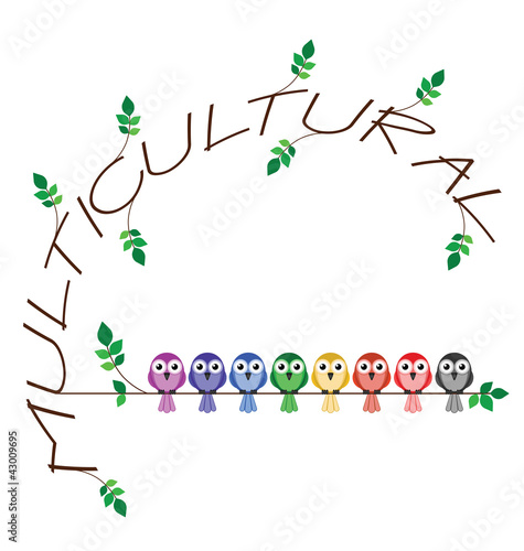 Multicultural twig text representing diversity