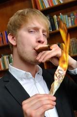 Reicher mit Zigarre