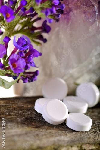 Schüsslersalze mit Lavendel und Kristall