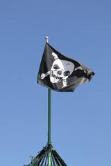 piratenfahne im camp
