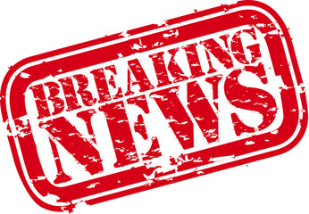 Breaking news rubber stamp,vector illustration