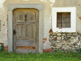 Baufällige Hausfassade