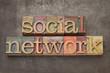 social network in wood type