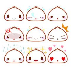 Set of cute emotion