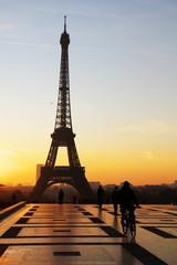 tour eiffel view during sunrise