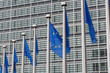 European Union flags  of  Berlaymont building in Brussels