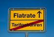 Wechsel-Schild FLATRATE-TARIFGEBÜHREN