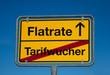 Wechsel-Schild TARIFWUCHER-FLATRATE