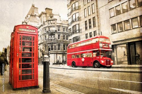 Poster London Fleet street vintage