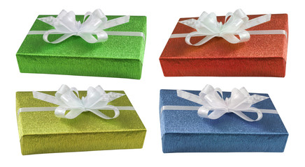 Boxes gifts presents set isolated