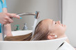 Hair Rinse in Beauty Salon