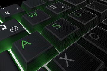 Tastatur-Raster schwarz