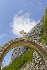 Entrance to monastery. Monastery Ostrog. Montenegro