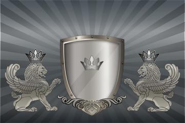 Heraldic background.