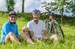 mit dem Nachwuchs auf Radtour
