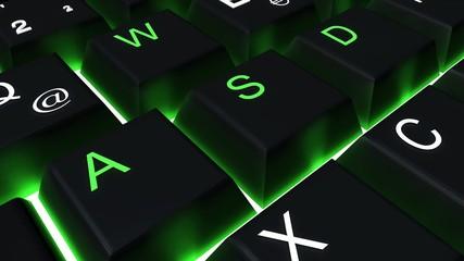 Tastatur-Raster Verlauf schwarz