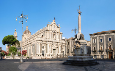 Catania Saint Agatha's Cathedral in Sicily