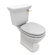 Toilet 3D objects on white background