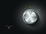 Volume Knob Control, vector illustration