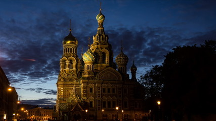 St. Petersburg, Сhurch of the resurrection in White Nights