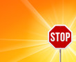 Stop Sign and Sunshine